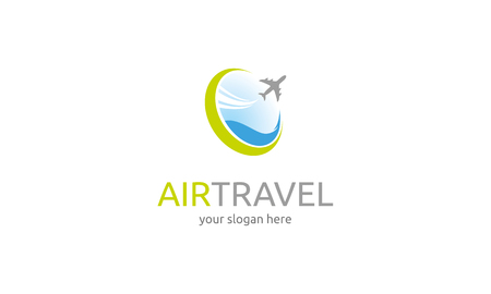 air travel: Air Travel icon Illustration
