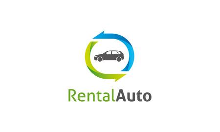 Rental Auto Logo Vector