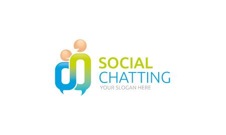 Logo Discuter sociale Banque d'images - 35647699
