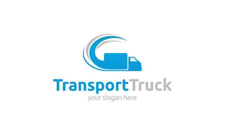 courier service: Transport Truck Logo Illustration