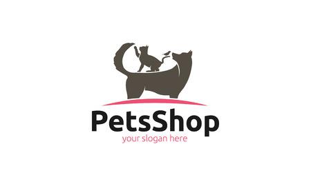Animaux Shop Logo Banque d'images - 47282398