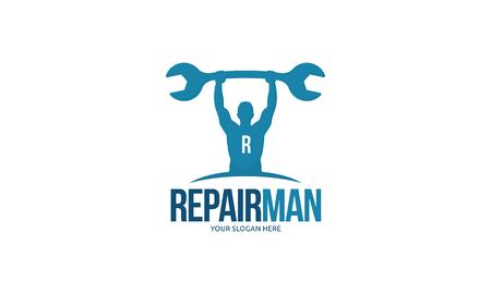 repair man: Repair Man Logo Vectores