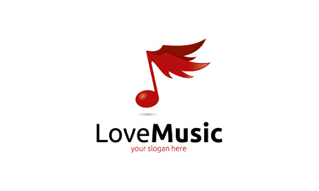 logo music: Love Music Logo Illustration