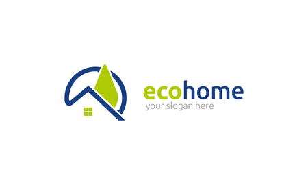 beautiful homes: eco home Illustration