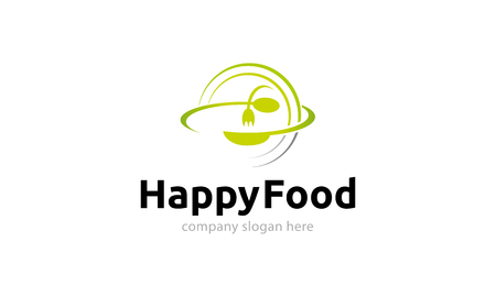 logo de comida: comida feliz