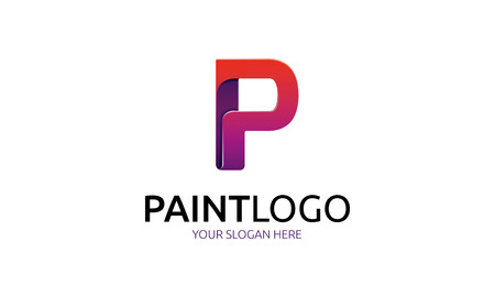 media logo: paint logo Illustration
