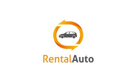 logon: Rental Auto Logon Illustration