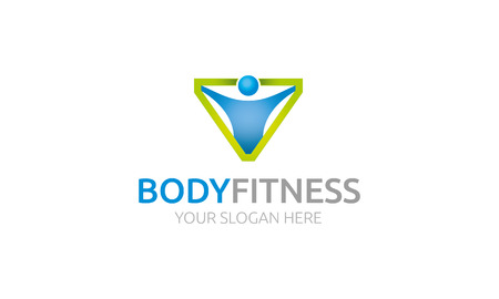 Body Fitness Logo Stock fotó - 47831878