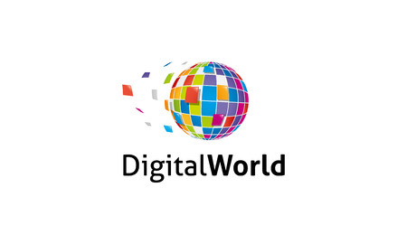 telecom: Digital World Logo Illustration