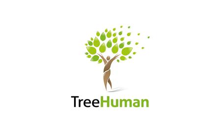 arbol de la vida: Logotipo del árbol humano Vectores