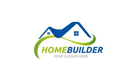constructeur maison: Home Builder Logo Illustration