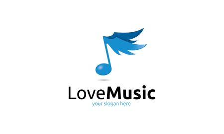logo musique: Love Music Logo Illustration