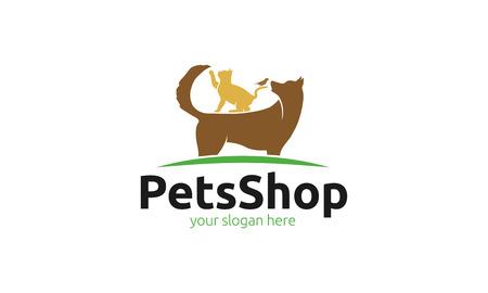 veterinaria: Tienda de mascotas Vectores