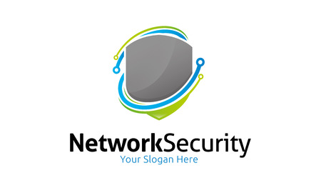 Network Security Logo Stock Illustratie