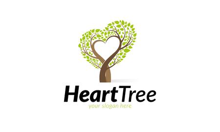 Heart Tree Logo Illustration