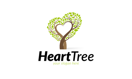 Heart Tree Logo Vettoriali