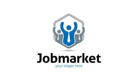Job Market Logo Stock fotó - 72762995