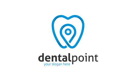 Dental Point Logo Stock Illustratie