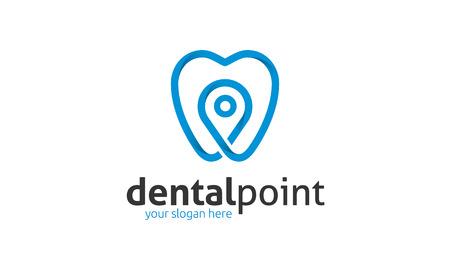Logo Point de Dental Banque d'images - 73192753