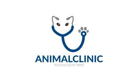 pete: Animal Clinic Logo Illustration