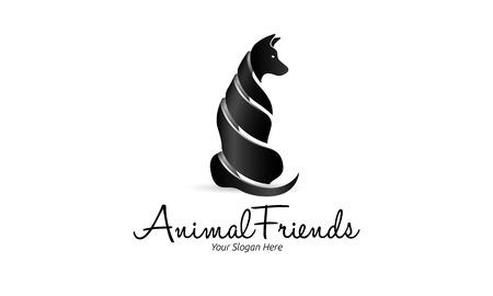 Animal Friends Logo Illustration