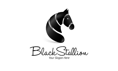 Black Stallion Logo on a white background Ilustração