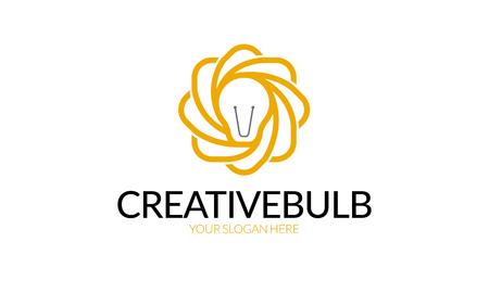 Creative Bulb Logo on a white background Ilustrace