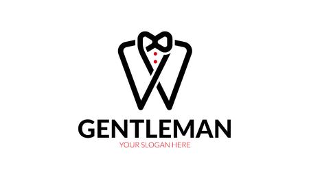 紳士ロゴの芸術的なデザイン。  イラスト・ベクター素材