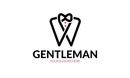 Artistic design of a gentleman logo.
