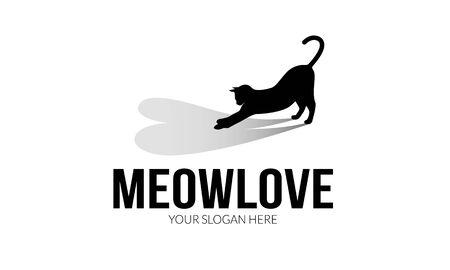 meow: Meow Love Logo