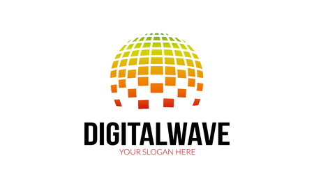 digital media: Digital Wave Logo Illustration