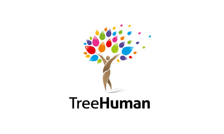 tree: Creative design of a Tree Human Logo.