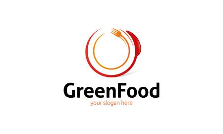 profesional: Green Food Logo