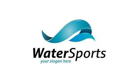水スポーツのロゴ  イラスト・ベクター素材