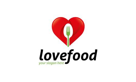 comedor escolar: Logotipo del amor de Alimentos