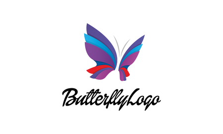 butterfly logo Illustration