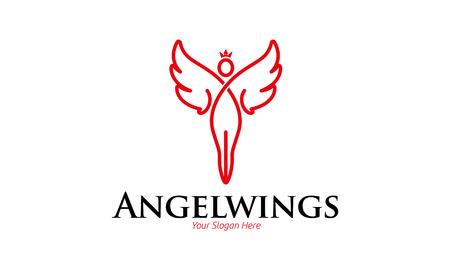 天使の翼のロゴ  イラスト・ベクター素材