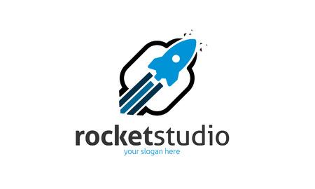 Rocket Studio Logo Stock fotó - 74943751