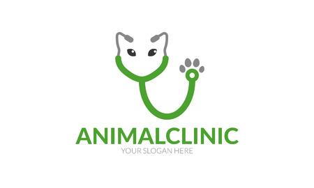 動物病院ロゴ  イラスト・ベクター素材