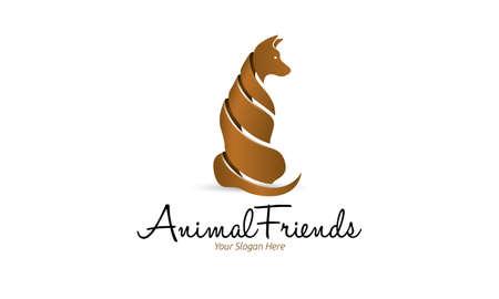 pete: Animal Friends Logo Illustration