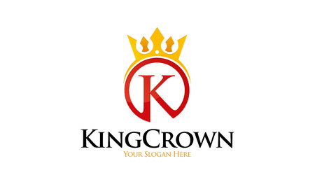 King Crown Logo Banque d'images - 75333242