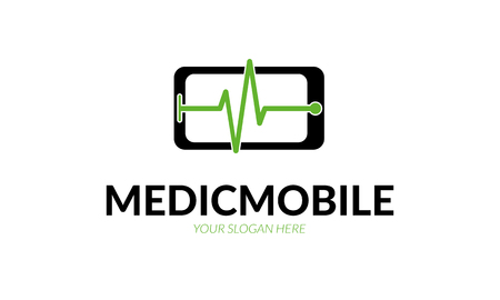 outpatient: Medical Mobile Logo Illustration