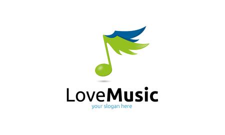 increased: Love Music Logo Illustration