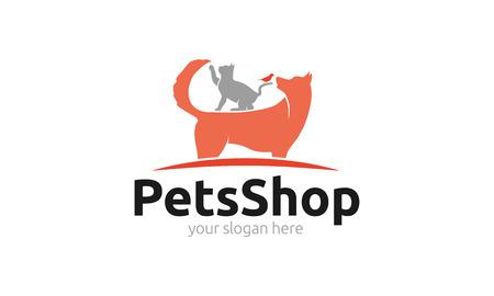 pete: Pets Shop Logo Illustration