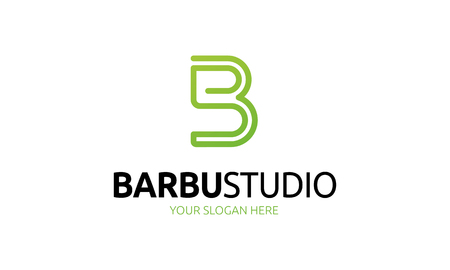 Barber Studio Logo Illustration