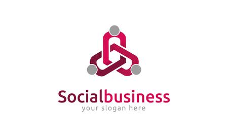 comunity: Social Business Logo Illustration