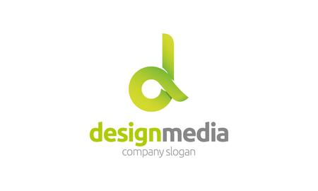 customizable: Media Design Logo.
