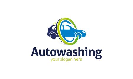 Auto Washing logo Stock Vector - 75655755