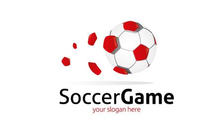 Soccer Game Logo Stock Vector - 75814024