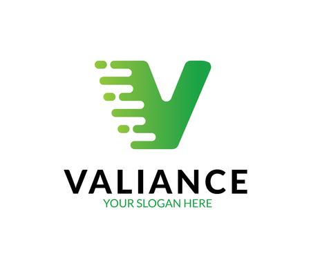 V-Buchstaben-Logo Logo